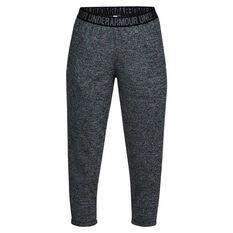 Under Armour Womens Play Up Capri Twist Pants Black / Silver XS, , rebel_hi-res