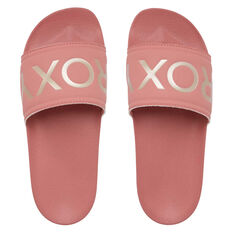 Roxy Slippy II Womens Slides Pink US 6, Pink, rebel_hi-res