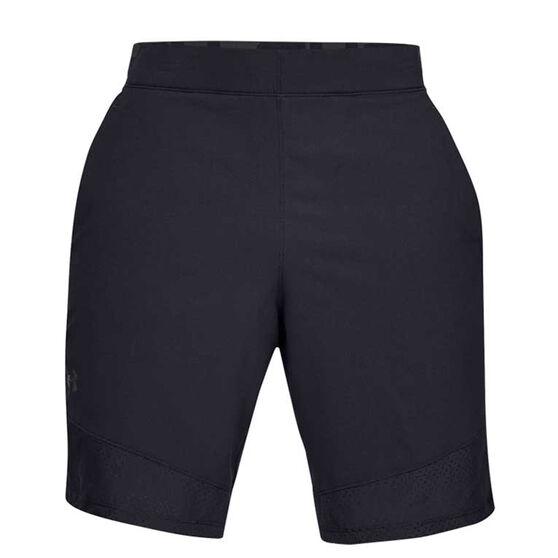 Under Armour Mens Vanish Woven Training Shorts, Black / Grey, rebel_hi-res