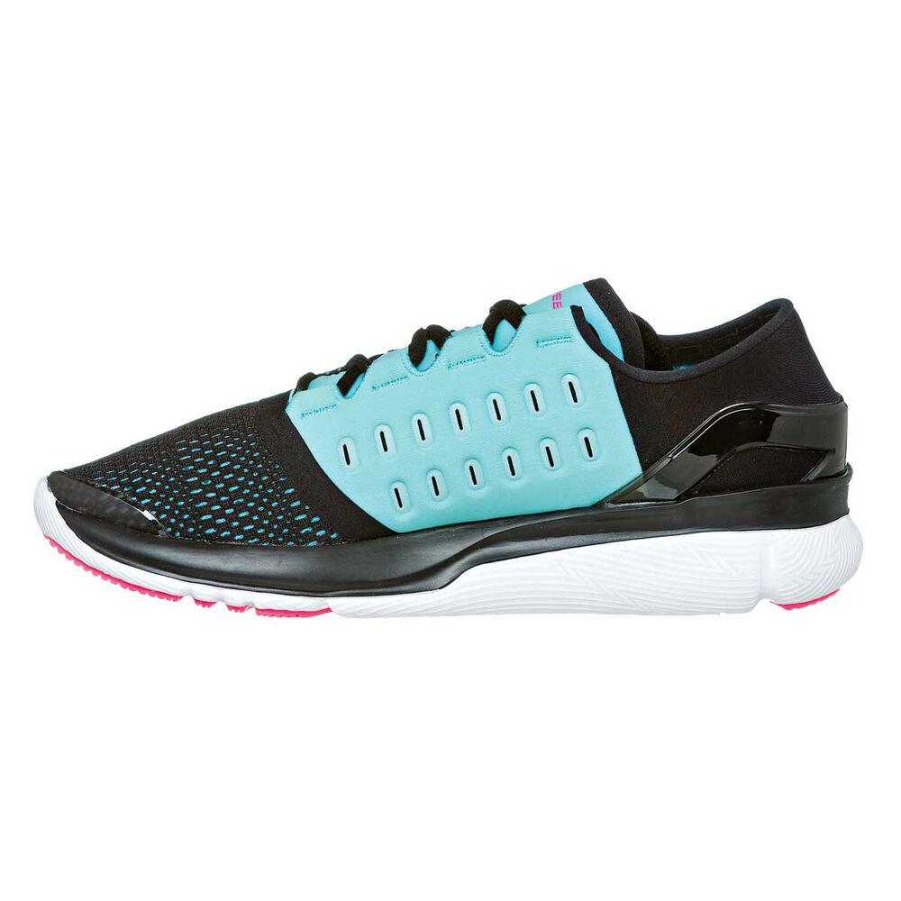 Under Armour Speedform Apollo 2 Womens Running Shoes Black   Blue US ... 2e63d0052