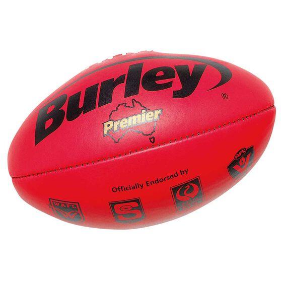 Burley Premier AFL Ball, Red, rebel_hi-res