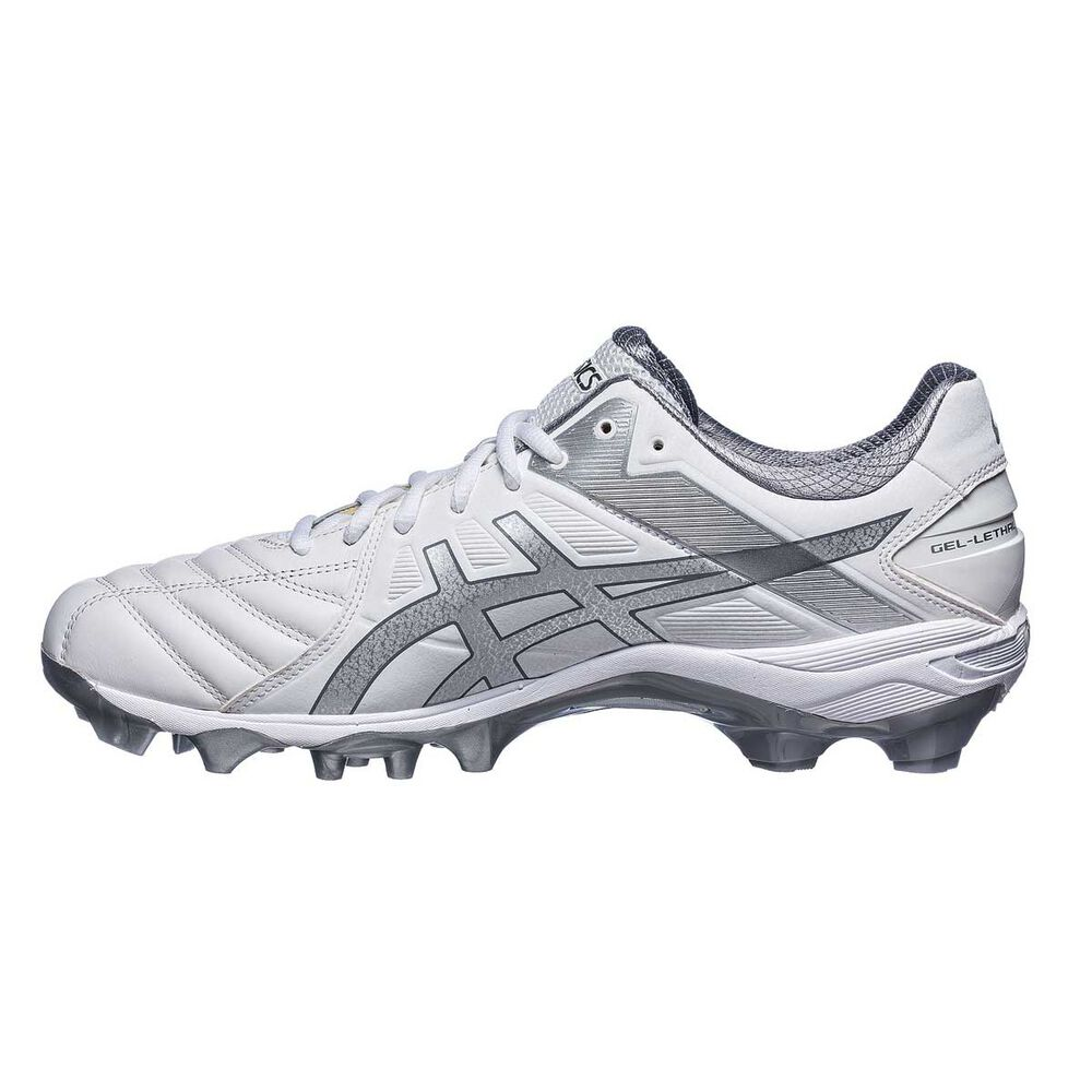 c8400dd195b Asics GEL Lethal Ultimate IGS 12 Mens Football Boots White   Silver US 9  Adult
