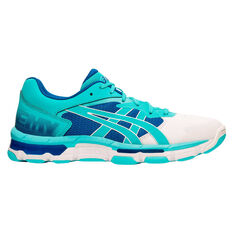 Asics Gel Netburner Academy 8 Womens Netball Shoes Blue US 6, Blue, rebel_hi-res