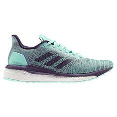 adidas Solar Drive Womens Running Shoes Green / Purple US 5, Green / Purple, rebel_hi-res