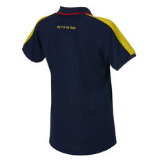 Adelaide Crows AFLW 2020 Womens Media Polo, Navy, rebel_hi-res