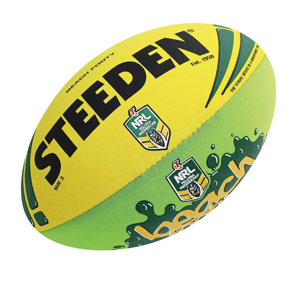 357a69f1040 Steeden NRL Beach Supporter Ball Green   Gold 3