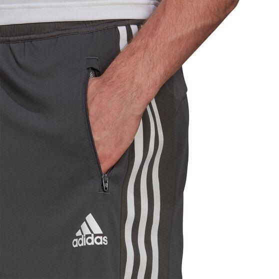 adidas Mens 3-Stripes Ultimate Shorts, Grey, rebel_hi-res