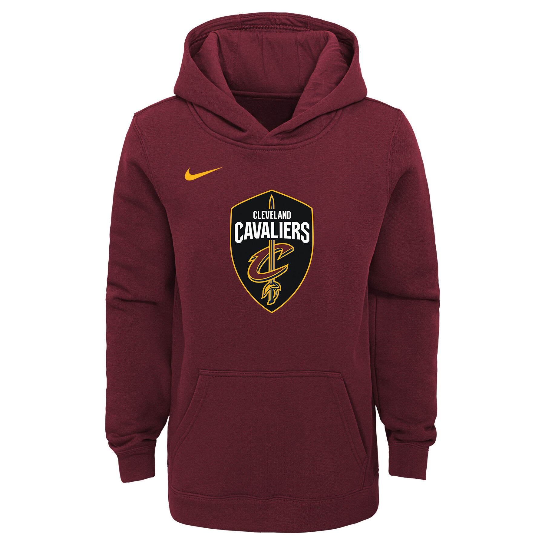 NIKE NBA CLEVELAND CAVALIERS DRY SHOWTIME HOODIE TEAM RED