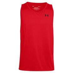 Under Armour Mens UA Tech 2.0 Tank Red XS, Red, rebel_hi-res
