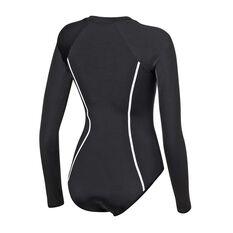 Roxy Womens Fitness SD Long Sleeve Onesie Black XS, Black, rebel_hi-res