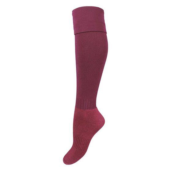 Burley Kids Football Socks, Maroon, rebel_hi-res