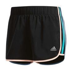 adidas Womens M10 Icon Shorts Black XS, Black, rebel_hi-res
