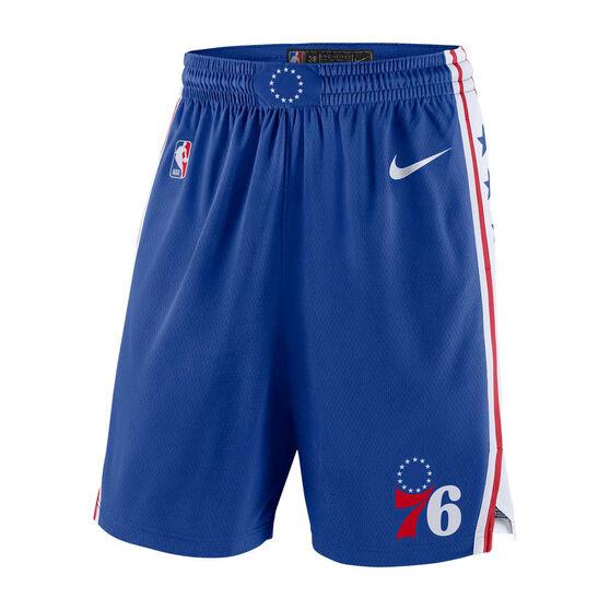 Nike Philadelphia 76ers Icon Edition Swingman Mens Basketball Shorts Blue XL, Blue, rebel_hi-res