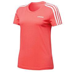 adidas Womens Essentials 3 Stripes Tee Pink XS, Pink, rebel_hi-res