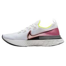 Nike React Infinity Run Flyknit Mens Running Shoes White / Pink US 7, White / Pink, rebel_hi-res