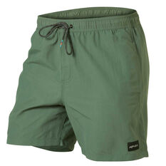 Quiksilver Mens Rigby 17in Volley Shorts Green S, Green, rebel_hi-res