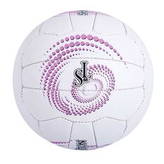 Sharni Leyton Match Ball White / Purple 5, , rebel_hi-res