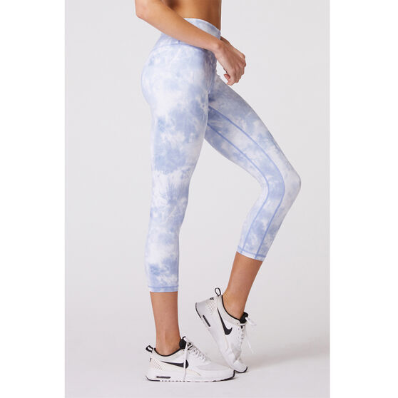 L'urv Womens Solar Mist 3/4 Tights, Blue, rebel_hi-res