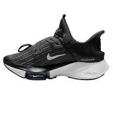 Nike Air Zoom Tempo Next% FlyEase Womens Running Shoes Black/White US 6, Black/White, rebel_hi-res