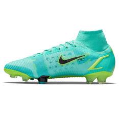 Nike Mercurial Superfly 8 Elite Football Boots Blue/Lime US Mens 4 / Womens 5.5, Blue/Lime, rebel_hi-res