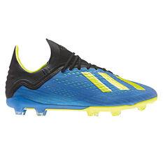 adidas X 18.1 Junior Football Boots Blue / Black US 4, Blue / Black, rebel_hi-res