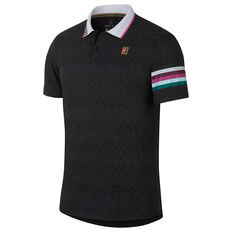 Nike Mens Court Advantage Polo Black XS, Black, rebel_hi-res