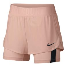 NikeCourt Womens Dry Ace Tennis Shorts Red / Black XS, Red / Black, rebel_hi-res