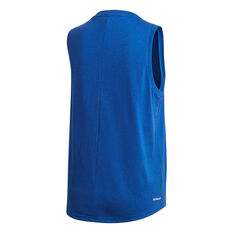 adidas Womens Designed To Move Tank, Blue, rebel_hi-res