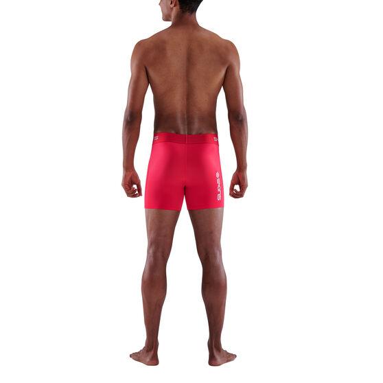 SKINS Mens Series 1 Compression Shorts, Red, rebel_hi-res