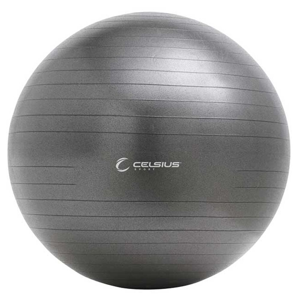 Celsius Fit Ball Pro Exercise Ball 75cm Charcoal | Rebel Sport