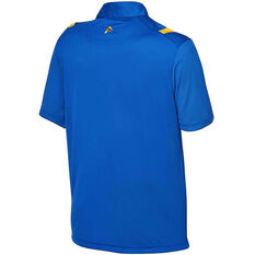 West Coast Eagles 2020 Mens Performance Polo Royal Blue Blue S, Blue, rebel_hi-res