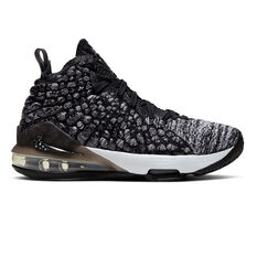 Nike LeBron XVII Kids Basketball Shoes Black / White US 4, , rebel_hi-res