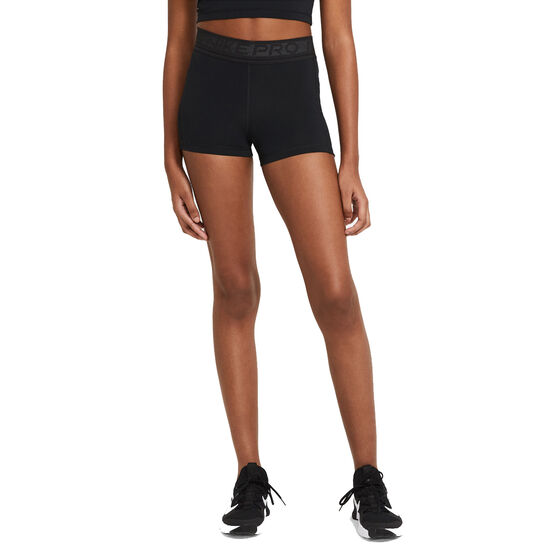 Nike Pro Womens 3in Shorts, Black, rebel_hi-res