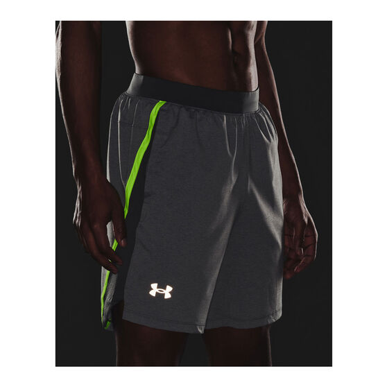Under Armour Mens Launch 7in Running Shorts, Grey, rebel_hi-res