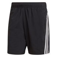 adidas Mens Future Icons Woven Shorts Black S, Black, rebel_hi-res
