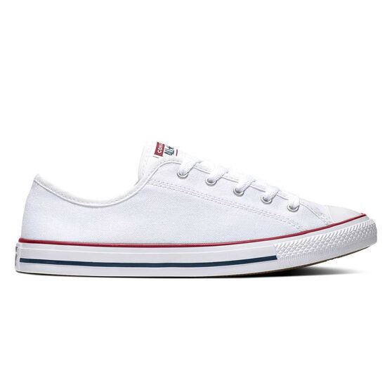 Converse Chuck Taylor Dainty Low Womens Casual Shoes, White, rebel_hi-res