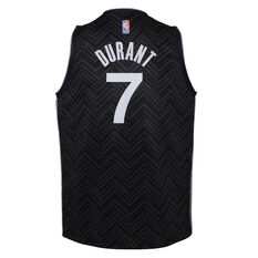 Nike Brooklyn Nets Kevin Durant 2020/21 Kids Earned Jersey Black S, Black, rebel_hi-res