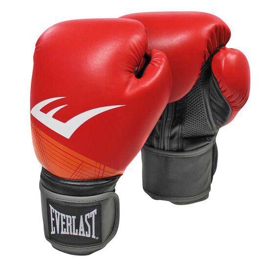 Everlast Pro Style Advanced Training Boxing Gloves Red 16oz, Red, rebel_hi-res