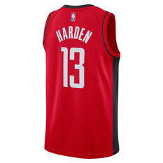 Nike Houston Rockets James Harden 2020/21 Mens Icon Edition Authentic Jersey Red S, Red, rebel_hi-res