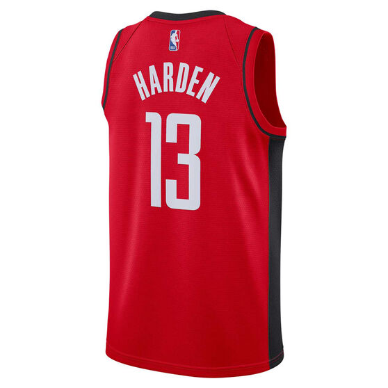 Nike Houston Rockets James Harden 2020/21 Mens Icon Edition Authentic Jersey, Red, rebel_hi-res