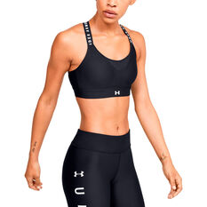 Under Armour Womens Infinity High Sports Bra Black XS, Black, rebel_hi-res