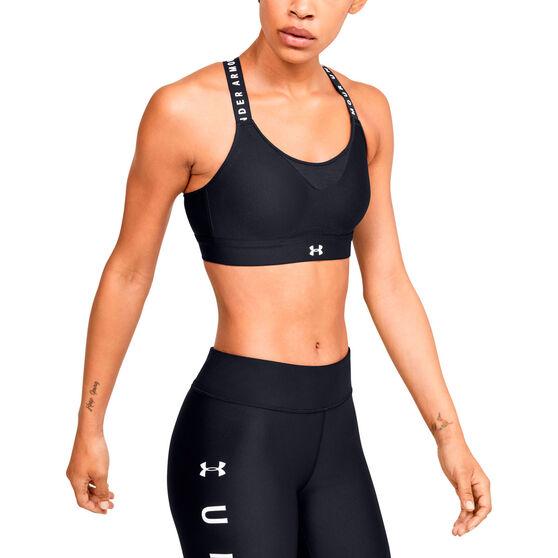 Under Armour Womens Infinity High Sports Bra, Black, rebel_hi-res