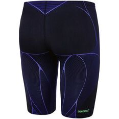 3261d0ad9e ... rebel_hi Speedo Mens Kinetic Jammer Swim Shorts Black / Blue 14, Black  / Blue, rebel_hi