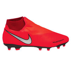 Nike Phantom Vision Academy Dynamic Fit Mens Football Boots Red / Silver US Mens 7 / Womens 8.5, Red / Silver, rebel_hi-res