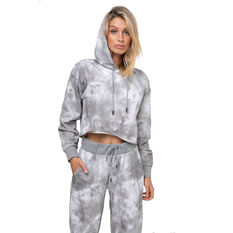 L'urv Womens In The Clouds Pullover Hoodie Grey XS, Grey, rebel_hi-res
