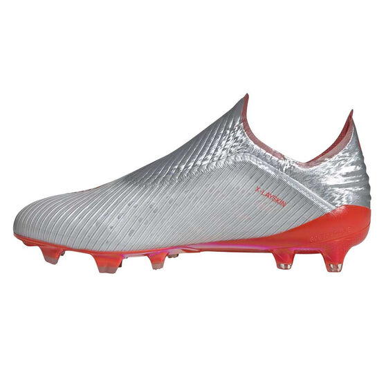 adidas X 19+ Football Boots, Silver / Red, rebel_hi-res