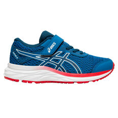 Asics GEL Excite 6 Kids Running Shoes Blue / Red US 11, Blue / Red, rebel_hi-res