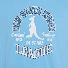 NSW Blues State of Origin 2019 Mens Vintage Tee Blue S, Blue, rebel_hi-res