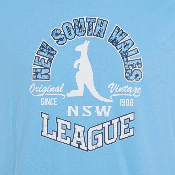 NSW Blues State of Origin 2019 Mens Vintage Tee Blue S, Blue, rebel_hi-res