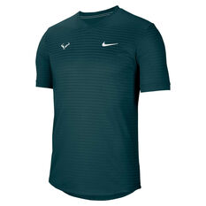 Nike Mens Rafa Challenger Tennis Top Teal XS, Teal, rebel_hi-res